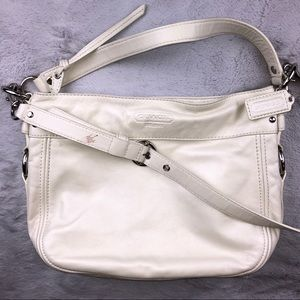 Coach Zoe Soft Cream Leather Hobo Bag C1020-F14707